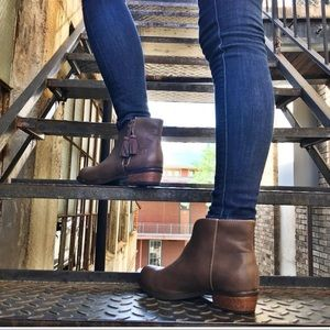 Western Tassel Distressed Booties